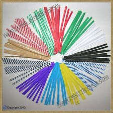 """120 pcs 4"""" Paper Twist Ties for cello bags - Mixed 12 Colors"""