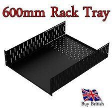 "Penn Elcom 2U 19"" Deep Rack Tray ( 600mm ) for Servers, Amps, Projects,etc"