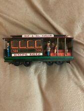 Vintage Tin Toy Train Trolley Car Powell & Mason Sts. Municipal Railway 504 .