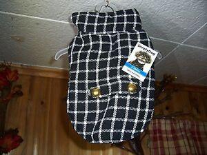 SIMPLY DOG DOG SWEATER VEST SIZE XS 12-14 INCH CHEST GIRTH PLAID DESIGN BLACK