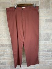Mens G.H. Bass Pants Red Salmon Preppy Golf Chino Nice Size 36x29