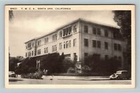 Santa Ana CA, Y.M.C.A. Building Bicycles Street View Linen California Postcard