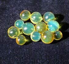 12 Bead BlueGreen Amber Dominican Gem Stone Sphere 7.87 mm to 5.89 mm(2.5G)#702
