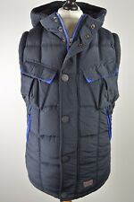 SUPERB men's Superdry Ultimate Patrol blue sherpa lined winter gilet small