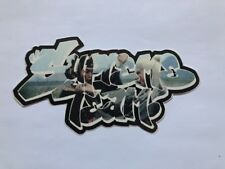 Rare Supreme Team Kung Fu New York Bruce Lee Black Sticker Authentic