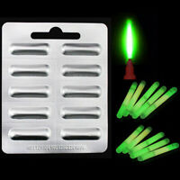 10pcs Mini Fishing Fluorescent Lightstick Light Night Float Clip On Glow St Fy