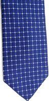 "D' este Men's Silk Tie 59.5"" X 3.75"" Blue w/ silver/gold Geometric"
