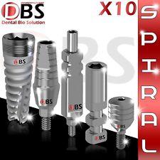 10X Dental Implant KIT Spiral & St. Abutment & Healing Cap & Analog & Transfer
