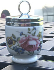 "Royal Worcester Bournemouth Rose Standard Size Egg Coddler. 3.5"" Tall. With Lid,"