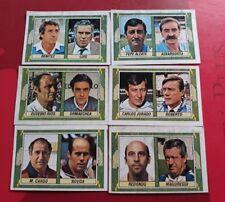 Lote de 6 cromos de  Entrenadores de la 84 /85