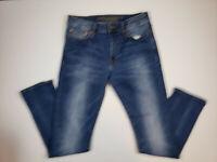 American Eagle Men Jeans Size 30x32 Slim Straight Leg Extreme Flex Blue Denim