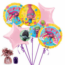 Dreamworks Trolls Birthday Party Favor Supplies Balloon Bouquet 7pc Combo Kit