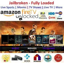 ~*New Amazon Fire TV Stick Unlock**~/Alexa Voice Remote/ KODI 17.6 Premium Build