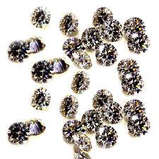 Round Moissanite Diamond 4 Ring 6.66ct Vvs1-4pc/7.70-7.90mm Gray Brown Loose