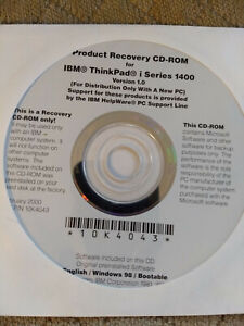 IBM ThinkPad i Series 1400 recovery CD Windows 98