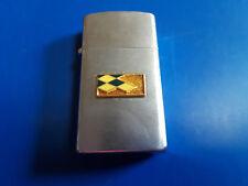 Old Vtg Metro Lighter Silver Tone Cigarette Lighter Made In Japan
