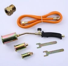 3tlg. Gasbrenner Abflammgerät Brenner Löten Gaslötgerät Dachbrenner + Adapter