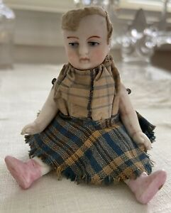 "Antique Kestner? Miniature Bisque 4""  Dollhouse Doll  Mold #520"