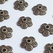 20pcs Swirl Flower Bead Caps Antique Bronze Findings 10mm - K02136