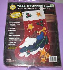 "Stocking Kit ""Angel Song"" Vintage What's New   Christmas Felt   stars pre-cut"