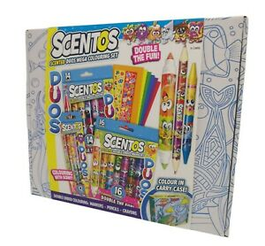 Scentos Scented Duos Mega Colouring Set With Colour In Carry Case Giftable