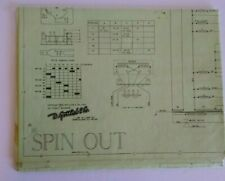 Spin Out 1975 Gottlieb Pinball Machine Game Schematic Wiring Diagram Original