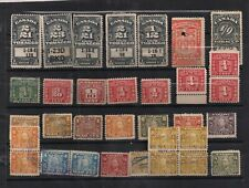 EARLY USED CANADA REVENUE STAMP LOT TOBACCO,EXCISE,WAR-TAX KGV AS IS