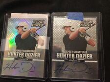2013 Panini Prizm Hunter Dozier Auto ⚾️  Rc Card HOT🔥lot Of 2👍🏻