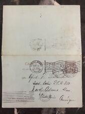1901 Monaco Postal Stationary cover to North Adams Ma Usa Unused Reply