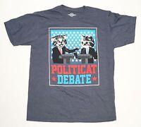 Politicat Debate - Political Kittens - Men's Large Blue T-Shirt  Funny