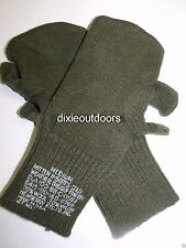 US Army Wool Trigger Finger Mittens Gloves Sz Med/Large New 3 Pairs