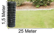 Gartenzaun grau anthrazit Gitterzaun Maschenzaun 150cm x 25m Schweiß-gitter-Zaun