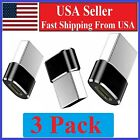 3 PACK USB C 3.1 Type C Female to USB 3.0 Type A Male Port Converter Adapter BLK