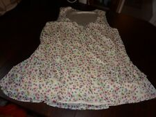 SO FABULOUS! UK 18 CREAM FLORAL LINED SLEEVELESS TOP