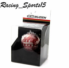 Genuine CARBON FIBER RED 6 SPEED MUGEN shift knob for M10 x 1.5 Honda Universal