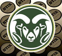 Colorado State Rams Logo NCAA Vinyl Die Cut Sticker Car Window Bumper Decal