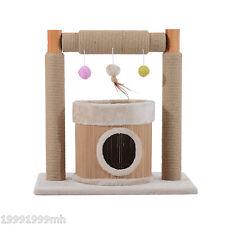 """PawHut 24.8"""" Cat Tree Condo Furniture Pet Scratcher House w/ Toys Beige"""
