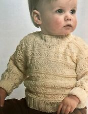 FK32 - Knitting Pattern - Baby's DK Guernsey Jumper - Children's