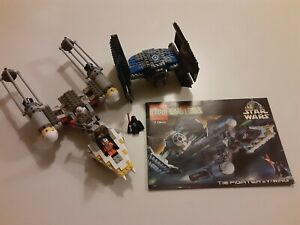 Star Wars Lego 7150 Tie Fighter & Y-Wing + MiniFigs Manual RARE Retired COMPLETE