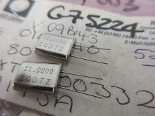 11.000 Mhz Crystal HC49 IQD XTAL003327  2 Per Sale.