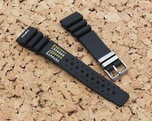 Watchgecko/Zuludiver Pro Diver Rubber N.D Limits Watch Strap  24mm Black