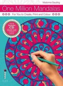 One Million Mandalas: For You to Create, Print and Colour  (BOOK+CD) LIKE NEW