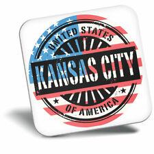 Awesome Fridge Magnet - Kansas Missouri USA American Flag Cool Gift #6076