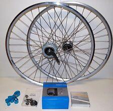 "28"" Ensemble de roue Zac 2000 Shimano C6001 8 Vitesse / N80 Dynamo moyeu complet"