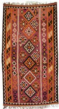 286x158 cm Afghan nomaden Kelim läufer Teppich orient Rug kilim afghanistan Nr74