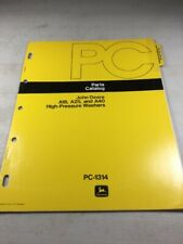 John Deere A18, A25, A40 High Pressure Washers Parts Catalog Manual