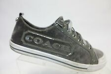 COACH Fabiana Grey Sz 6.5 B Women Suede Sneakers
