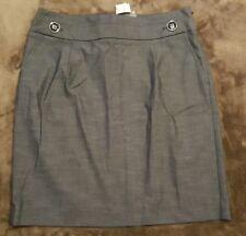 ANN TAYLOR LOFT Career Gray Straight Skirt Size 8 NWT (R18)