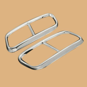 Stainless Steel Exhaust Tail Pipes Frame Cover Trim Fit for Audi Q7 2016-2019