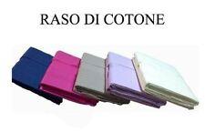 Completo lenzuola matrimoniale - Raso di Cotone Alta Qualità in 10 colori